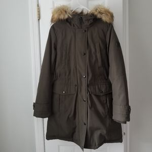 Olive Army Green Michael Kors Winter Parka NEW XS